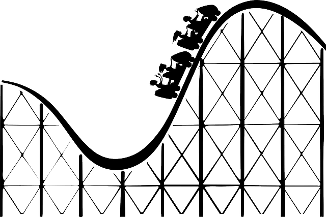 Geschäftliche Achterbahn
